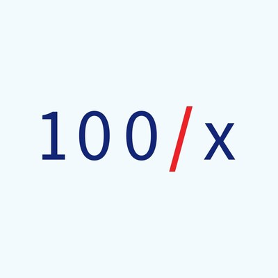 100x logo (PRNewsfoto/100x)