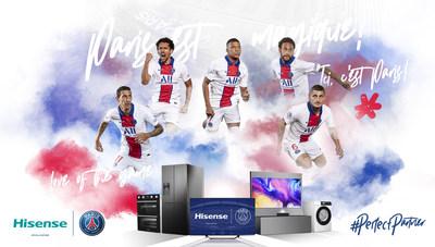 Hisense anuncia una asociación global con el París Saint-Germain