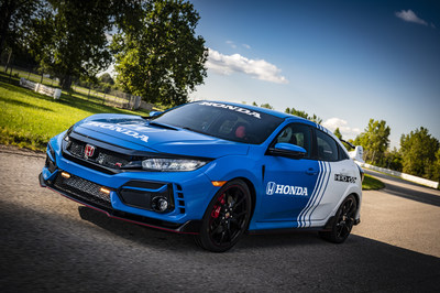 Honda today unveiled the new 2020 Honda Civic Type R Pace Car, which will lead the NTT INDYCAR SERIES field to the green flag for this weekend's Bommarito Automotive Group doubleheader race weekend at World Wide Technology Raceway, just outside St. Louis, Missouri.