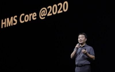 """Zhang Ping'an, presidente de Consumer Cloud Service en Huawei Consumer Business Group, pronunció el discurso de apertura titulado """"Juguemos juntos con HMS"""" (PRNewsfoto/Huawei Consumer Business Group)"""