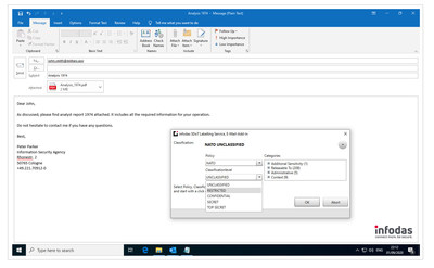 SDoT Labelling Service Microsoft Outlook Add-In