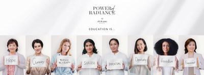 From L-R:Yukari Suzuki, Chief Brand Officer of Clé de Peau Beauté; Chiaki Horan, TV Personality and Actress; Toni Garrn, Humanitarian, Model and Actress; Pratiksha Pandey, 2020 'Power of Radiance Awards' Recipient; Binita Shrestha, 2020 'Power of Radiance Awards' Recipient; Chriselle Lim, Entrepreneur and Digital Content Creator; Fionnghuala O'Reilly, Model, Beauty Pageant Titleholder, NASA Datanaut and Director of Space Apps DC; Mizuki Hashimoto, Deputy Chief Brand Officer of Clé de Peau Beauté