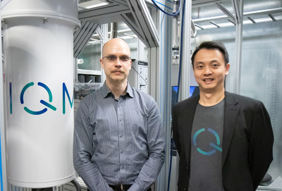 Two authors of the Nature paper on the new bolometer at IQM laboratories: Roope Kokkoniemi (left) and Kuan Yen Tan (right).