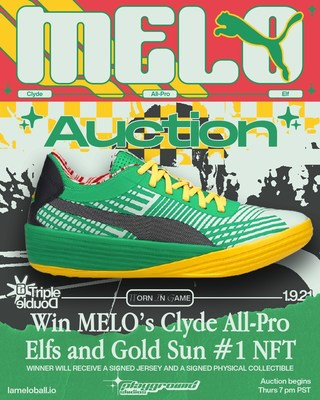 Auction to own rare LaMelo Ball memorabilia, including a signed pair of LaMelo Ball's shoes worn during his first career triple double game. LaMelo is the youngest ever to record a triple-double. The 24-hour auction starts on Thursday, June 17th at 7:00 PM PST // 10:00 PM EST.