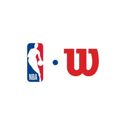 Logotipo completo de la NBA y Wilson