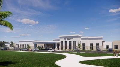 Conceptual drawing of Encompass Health Rehabilitation Hospital of Palm Beach Gardens