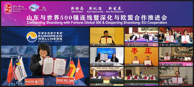Prof. Dr. Mike Chan in the live international signing session involving Fortune Global 500.