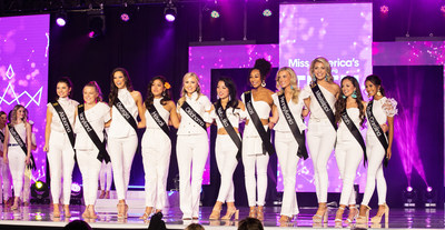 Candidates represented 50 states and the District of Columbia to compete for the title of Miss America's Outstanding Teen. Competition culminated with a live final event featuring all 51 competitors and spotlighting 11 semi-finalists (featured). Over $100,000 was awarded in cash scholarships. In-kind scholarships from seven universities in the amount of $30 million were made available to all 51 candidates. (Photo credit Jenn Cady)