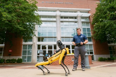 Auburn University's four-legged agile robot Mac has been turning heads on campus and is being utilized for construction research by professors in the McWhorter School of Building Science in the College of Architecture, Design and Construction.