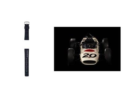 Banda adicional de nailon / Honda RA271: el primer automóvil de F1TM de un fabricante japonés, en competencia para el equipo Honda en 1964.