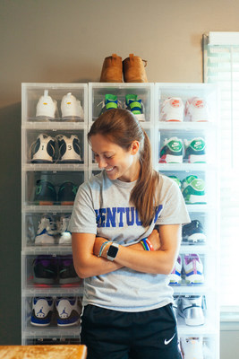 Small-Town Sneakerhead, Chelsea Dortch at home in Elkton, Kentucky. Photo credit: Katie Straughn