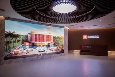 El salón de entrada del pabellón de China en la exposición de Dubái